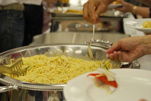 生ウニ入りのスパゲッティ