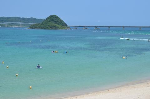 ホテル西長門リゾートのプライベートビーチ