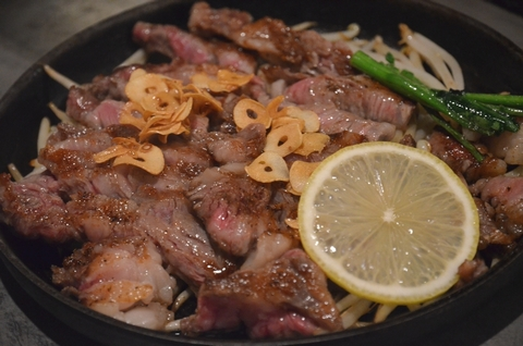 阿知須牛のサーロインステーキ