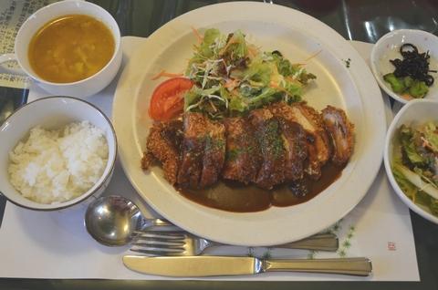長州鶏のカツレツ定食