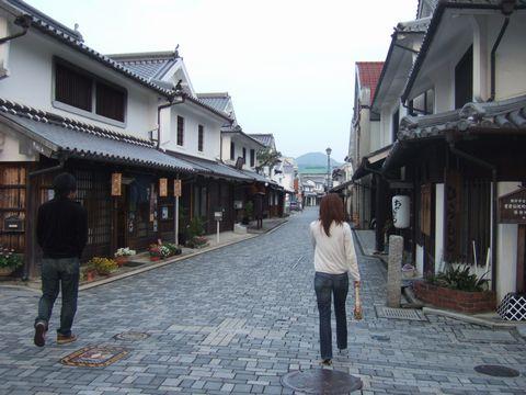 柳井市白壁の町並み