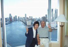 ホテルインターコンチネンタル東京ベイの客室から眺め