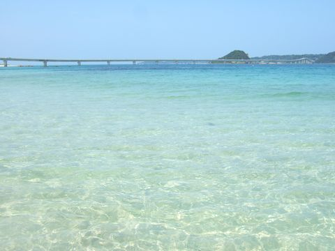 角島大橋も眺めながらの島戸海水浴場