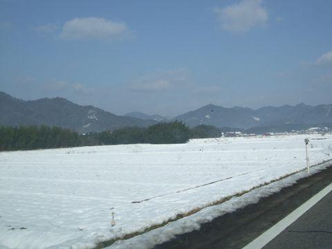 阿東町は雪景色