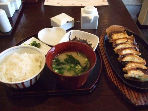紫蘇餃子定食