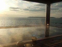 角島も眺められる露天風呂